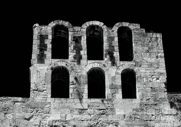Ancient Greek Ruins Poster featuring the photograph Ancient Greek Ruins by John Rizzuto