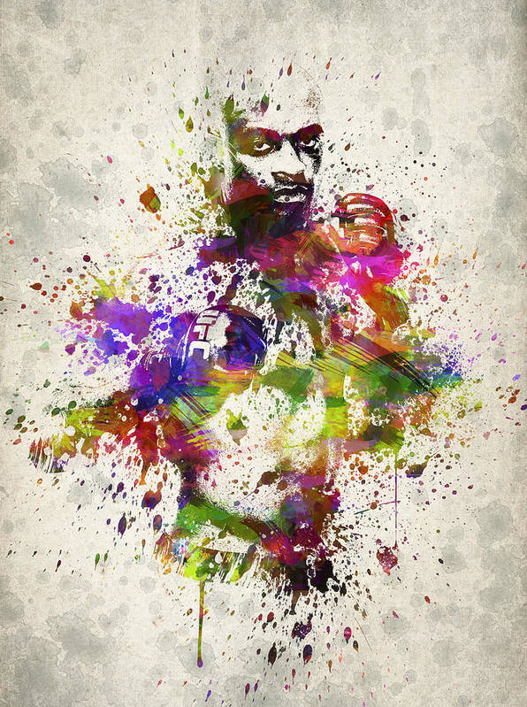 Anderson Silva Poster featuring the drawing Anderson Silva by Aged Pixel