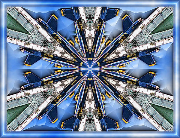 Blue Angels Poster featuring the digital art Angels by Wendy J St Christopher