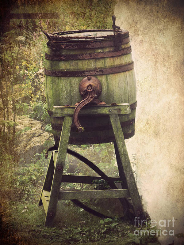 Barrel Poster featuring the photograph Antique Butter Churn by Linsey Williams