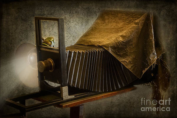 Susan Candelario Poster featuring the photograph Antique Camera by Susan Candelario