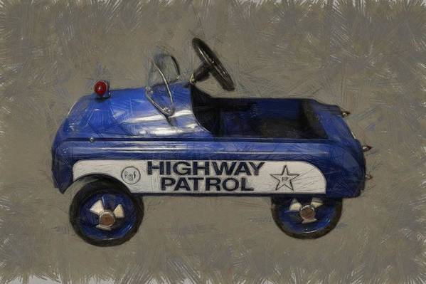 Pedal Car Poster featuring the photograph Antique Pedal Car V by Michelle Calkins