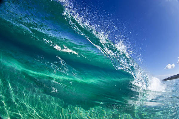 Waves Poster featuring the photograph Aqua Blade by Sean Davey