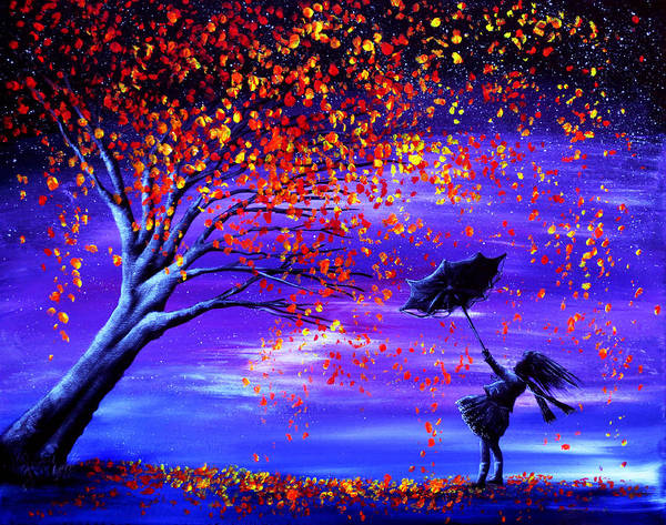 Autumn Poster featuring the painting Autumn Wind by Ann Marie Bone
