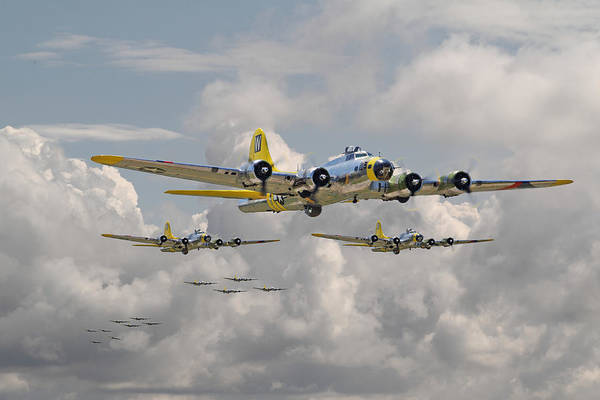 Aircraft Poster featuring the digital art B17 486th Bomb Group by Pat Speirs