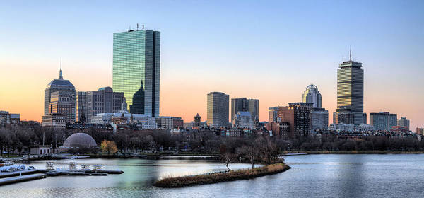 Boston Poster featuring the photograph Back Bay Sunrise by JC Findley