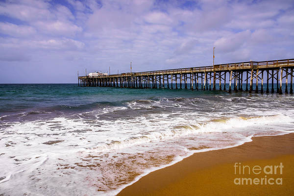America Poster featuring the photograph Balboa Pier In Newport Beach California by Paul Velgos