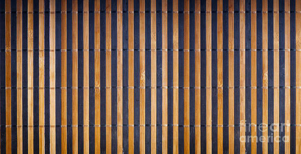 Abstract Poster featuring the photograph Bamboo Mat Texture by Tim Hester