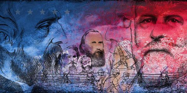 Gettysburg Poster featuring the painting Battle Of Gettysburg Tribute Day One by Joe Winkler