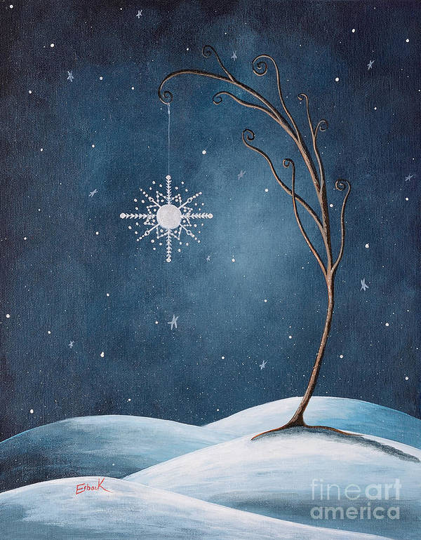 Winter Poster featuring the painting Beautiful Winterland By Shawna Erback by Shawna Erback