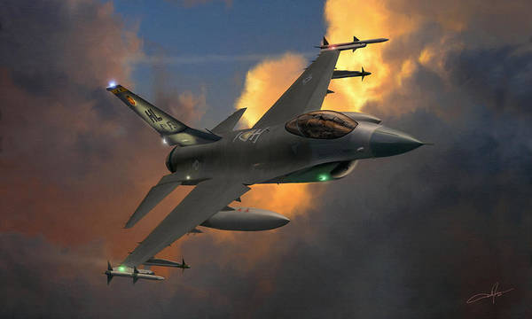 F-16 Poster featuring the digital art Beauty Pass by Dale Jackson