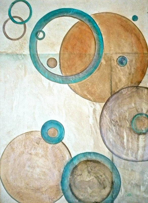 Belief In Cirlces Poster featuring the painting Belief In Circles by Debi Starr