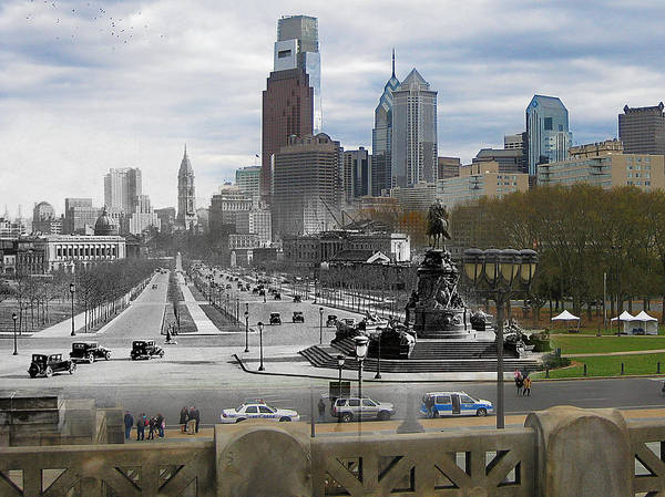 Philadelphia Poster featuring the photograph Ben Franklin Parkway by Eric Nagy