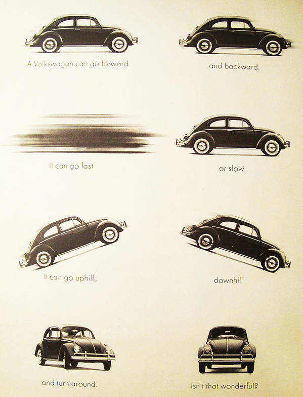 Vw Beetle Poster featuring the digital art Benefits Of A Volkwagen by Georgia Fowler