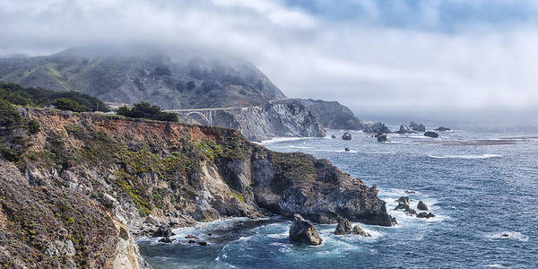 Bixby Bridge In Big Sur California Poster featuring the photograph Bixby Bridge - Large Print by Anthony Citro