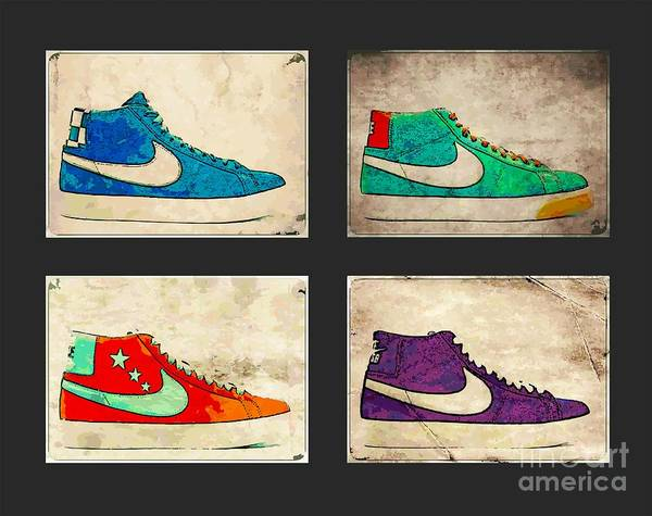 Nike Poster featuring the photograph Blazer Set by Alfie Borg