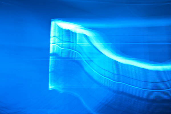 Blue Poster featuring the photograph Blue Abstract 3 by Mark Weaver