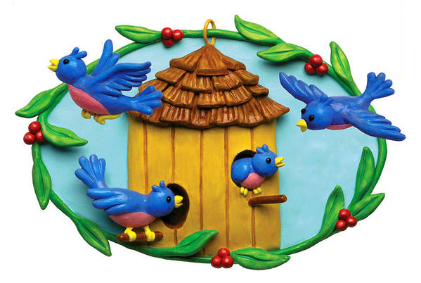 Blue Birds Fly Home Poster by Amy Vangsgard