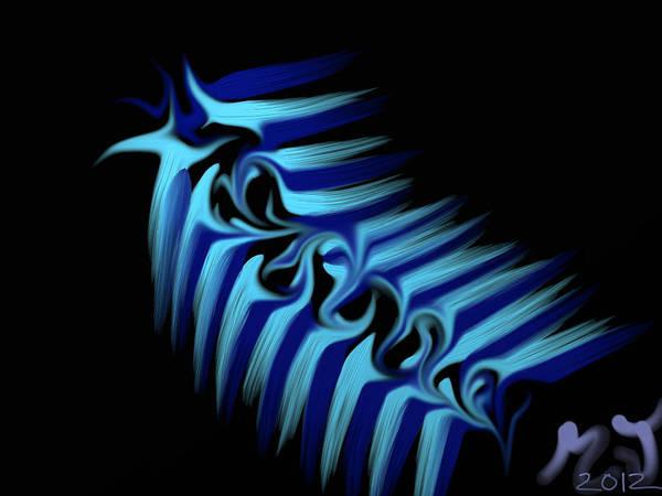 Slug Poster featuring the digital art Blue Slug by Michael Jordan