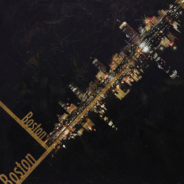 Boston City Poster featuring the painting Boston City Skyline by Corporate Art Task Force