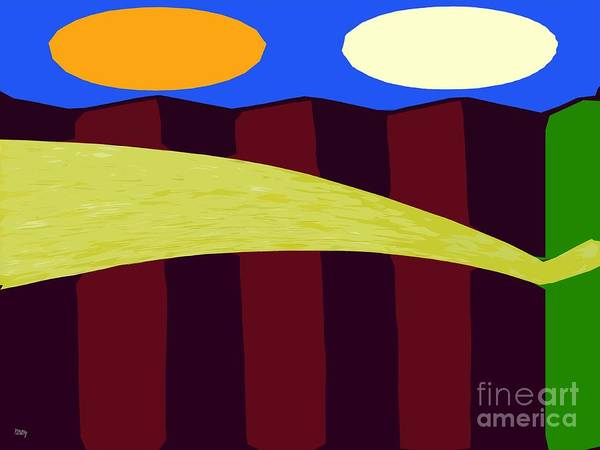 Bouncy Poster featuring the painting Bouncy Sunshine by Patrick J Murphy