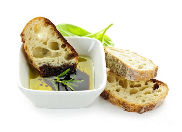 Bread Poster featuring the photograph Bread Olive Oil And Vinegar by Elena Elisseeva