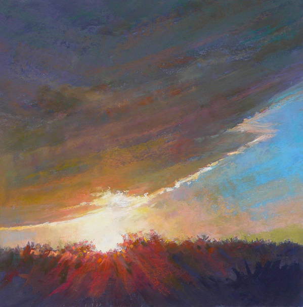 Sunrise Poster featuring the painting Break Through by Ed Chesnovitch