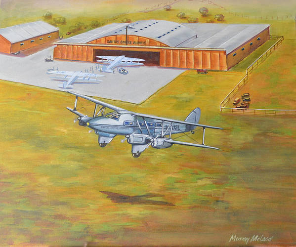 Aviationart Poster featuring the painting Brisbane Airport 1935 by Murray McLeod