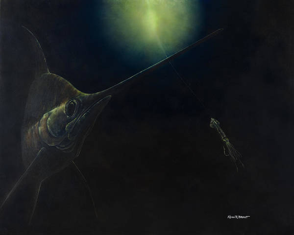 Swordfish Poster featuring the painting Broadbill Nights by Kevin Brant