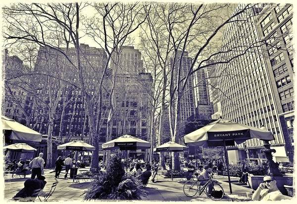 Nyc Poster featuring the photograph Bryant Park by Tony Ambrosio