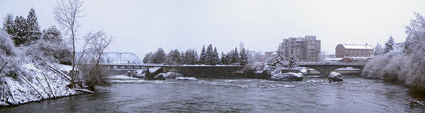 Spokane Poster featuring the photograph Canada Island And Spokane River by Daniel Hagerman