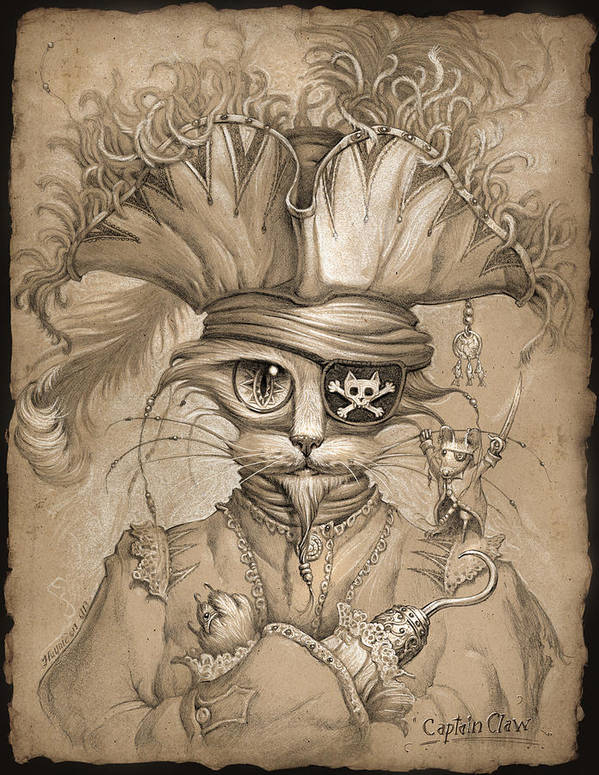 Jeff Haynie Poster featuring the painting Captain Claw by Jeff Haynie