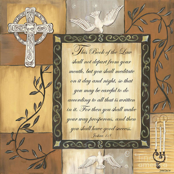 Scripture Poster featuring the painting Caramel Scripture by Debbie DeWitt