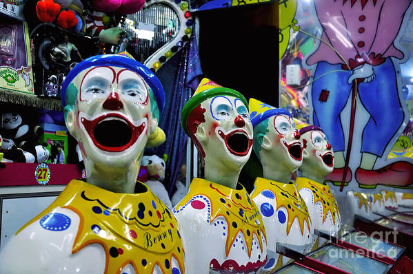 Photography Poster featuring the photograph Carnival Clowns by Kaye Menner