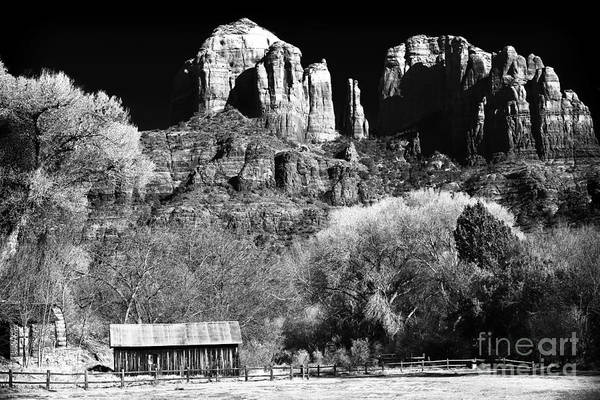 Cathedral Rock Poster featuring the photograph Cathedral Rock by John Rizzuto