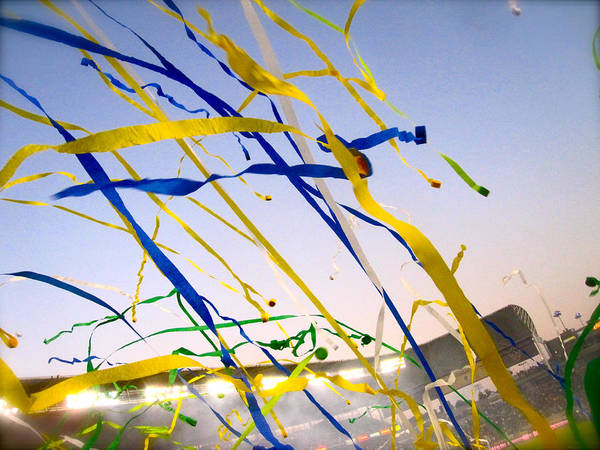 Streamers Poster featuring the photograph Celebration by Jon Berry