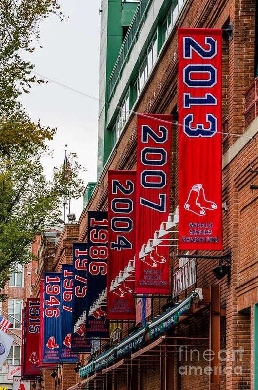 Red Sox Poster featuring the photograph Champs Again by Mike Ste Marie