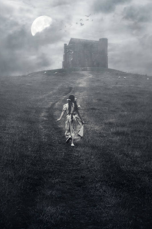 Girl Poster featuring the photograph Chapel In Mist by Joana Kruse