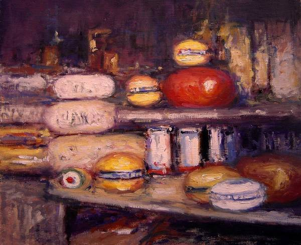 Cheese Poster featuring the painting Cheese Shop Window by R W Goetting