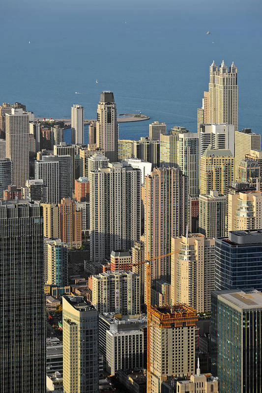 Aerial Poster featuring the photograph Chicago From Above - What A View by Christine Till