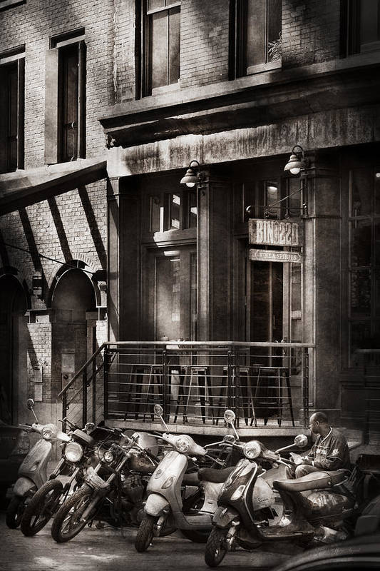 Ny Poster featuring the photograph City - South Street Seaport - Bingo 220 by Mike Savad
