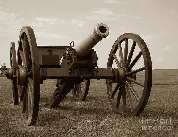 Cannon Poster featuring the photograph Civil War Cannon by Olivier Le Queinec