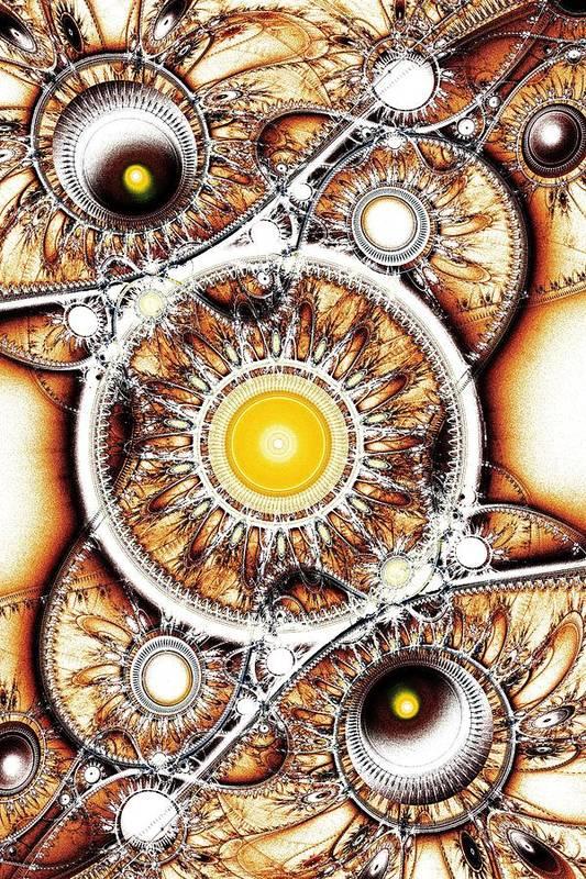 Computer Poster featuring the digital art Clockwork by Anastasiya Malakhova