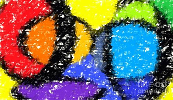 Abstract Poster featuring the digital art Colorful Abstract 3 by Chris Butler