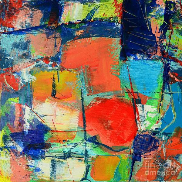 Abstract Poster featuring the painting Colorscape by Ana Maria Edulescu