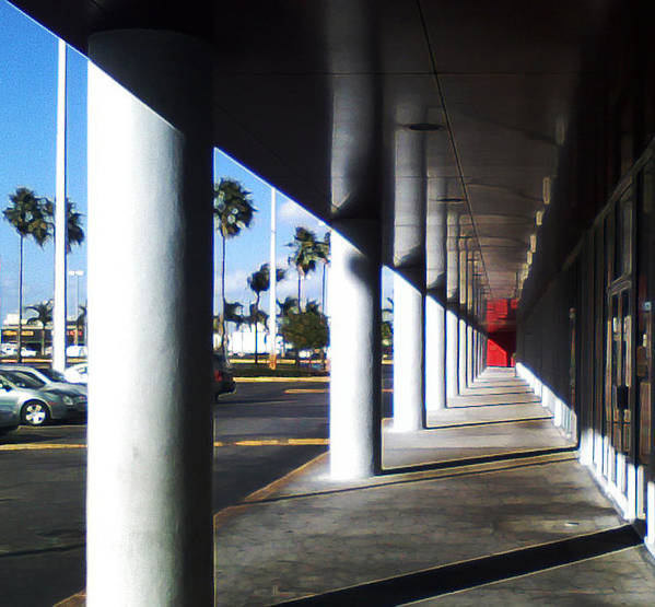 Column Poster featuring the photograph Column Corridor by Eric Rodriguez