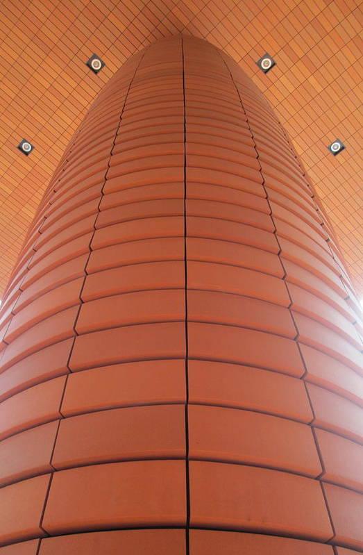 Bechtler Museum Of Modern Art Poster featuring the photograph Column Of Strength by Randall Weidner