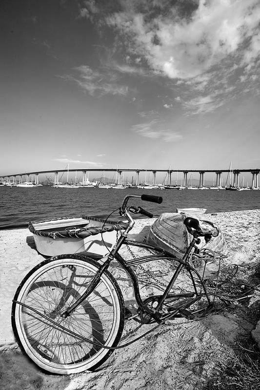 Bicycles Poster featuring the photograph Coronado Bridge Bike by Peter Tellone