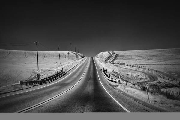 Black And White Poster featuring the photograph Country Farm Road by Anthony Citro