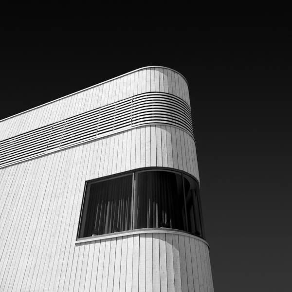 Modern Homes Poster featuring the photograph Curved Window by Dave Bowman